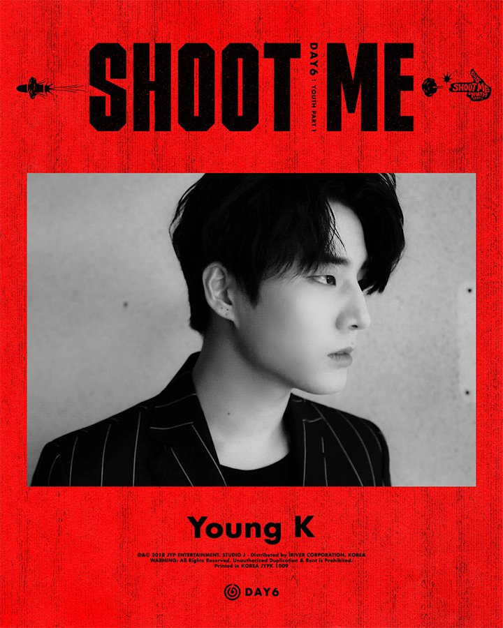 T Official jyp】 DAY 6, <Shoot Me : Youth Part 1> Come back