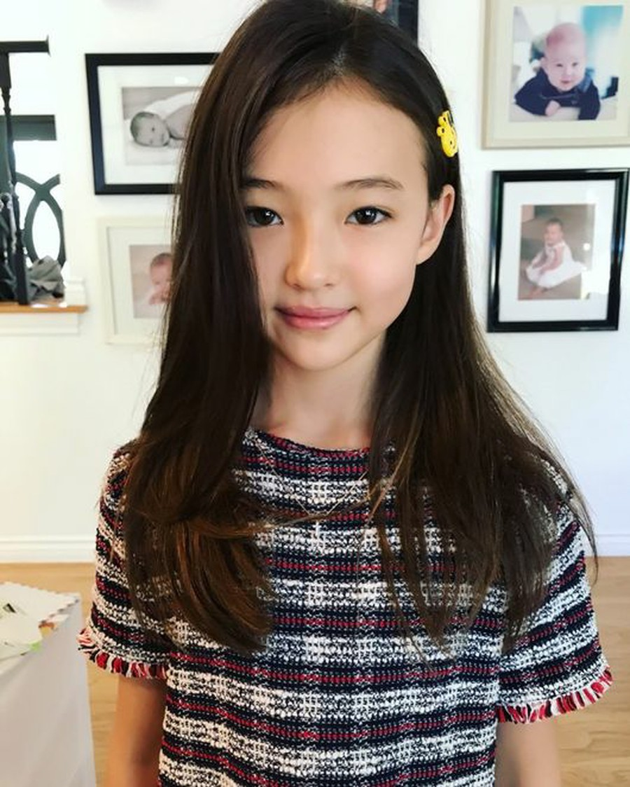 Ella Gross famous kids model, contract with THE BLACK LABEL