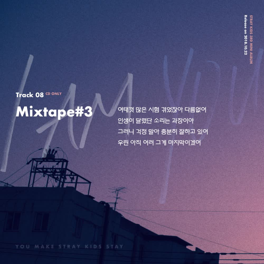 W Official Stray Kids I Am You Inst Lyric Card 8 Mixtape 3
