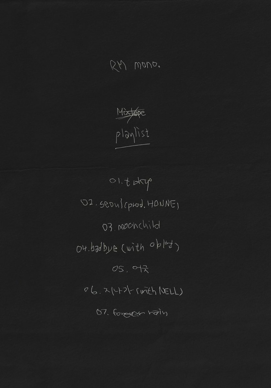 T Official Bts Rm Playlist Released Mono 10 23