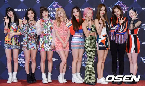 "TWICE participates in Mnet ""M COUNTDOWN"" rehearsal. .   Moth"