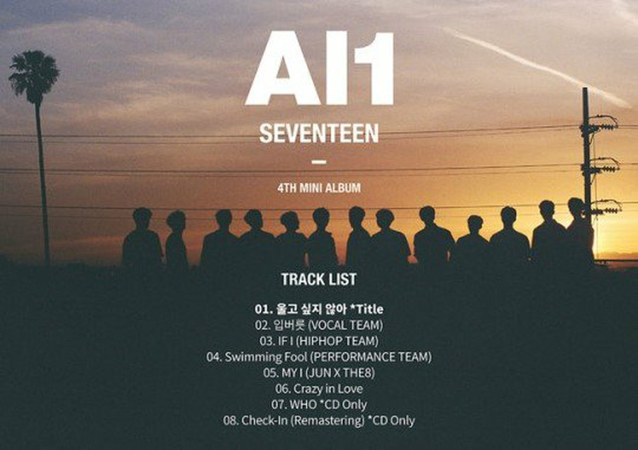 SEVENTEEN, track list released on the first comeback this