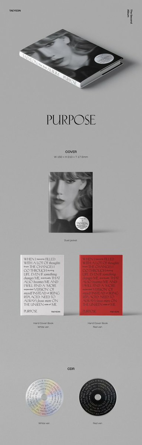 [T Official] SNSD (Girls' Generation), TAEYEON Tae Yeon The 2nd Album ['Purpose'