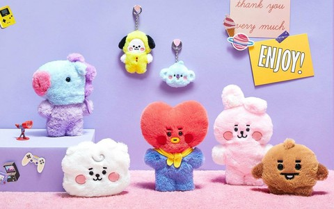 "LINE Friends, new product ""BT21"" appears. . Hot Topic among BTS fans. ."
