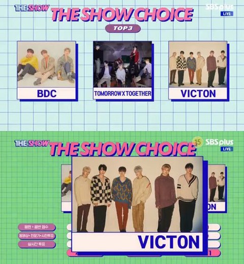 VICTON, 1st place today. THE SHOW is first place after debut. . #VICTON1stwin