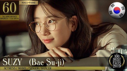 "Miss A former member Suzy, ranked 60th in ""The Most Beautiful Faces of 2019 100"""