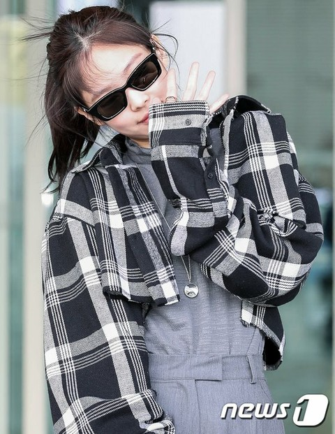 BLACKPINK JENNIE, depart from Incheon International Airport to London, UK. . .