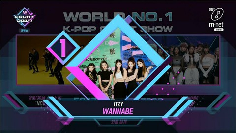 "ITZY, first place today. . ""M COUNTDOWN""   -The first triple crown is also recor"