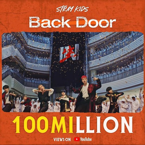 "Stray Kids, ""Back Door"" MV topped 100 million views."