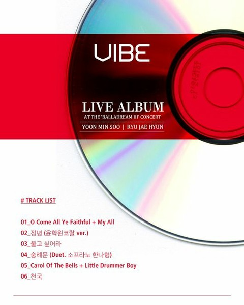 VIBE releases live album on the 11th. Total 6 songs: Ballad + Carol